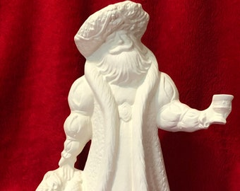Old English Santa Claus Ceramic Bisque