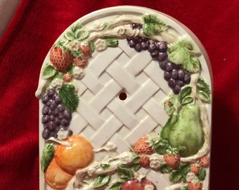 Glazed Ceramic Vintage Clock Base (clock not included)