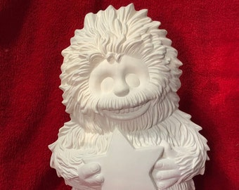 Clay Magic's New Yeti in ceramic bisque ready to paint