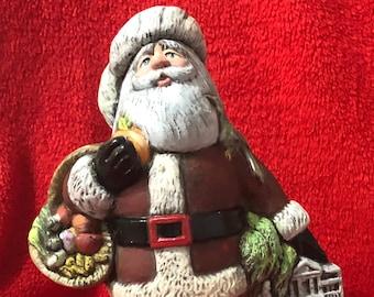 Dry Brushed Ceramic Georgia Santa using Mayco Softee Stains