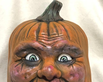 Dry Brushed Ceramic Pumpkin using Mayco Softee Stains