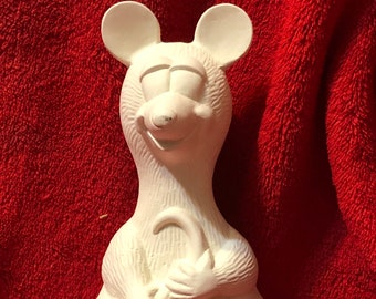 Ceramic Rat Sitter in bisque ready to paint
