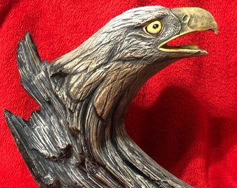 Ceramic Dry Brushed Driftwood Eagle using Mayco Softee Stains