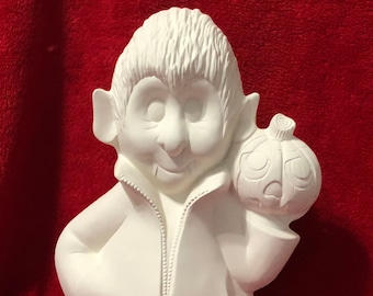 Clay Magic's Dracula in ceramic bisque ready to paint