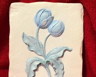 "Ceramic Glitter Glazed ""Tulip Intca"" Wall Hanging one of a kind"