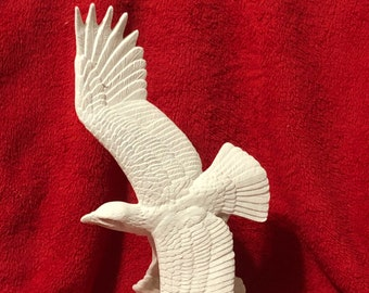 Soaring Eagle in ceramic bisque ready to paint