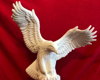 Large Doc Holliday Driftwood Eagle with Fish in ceramic bisque ready to paint (pic coming without broken wing) by jmdceramicsart