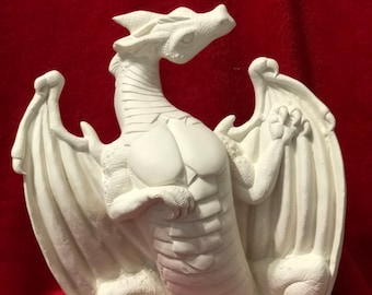 Dragon in ceramic bisque ready to paint