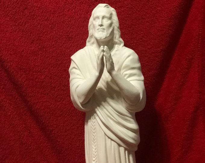 Featured listing image: Large Jesus Praying In ceramic bisque ready to paint