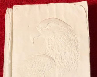 Vintage Ceramic Eagle Book Box in bisque ready to paint