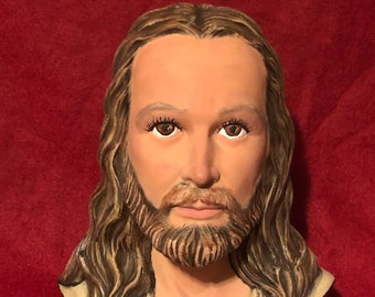 Bust of Jesus Christ Dry Brushed using Mayco Softee Stains