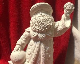 Ceramic Sunshine Santa in bisque ready to paint