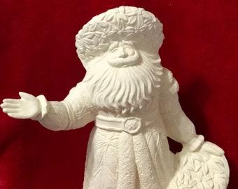 Rare Gare 15 inch Poinsettia Santa Claus