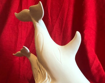 Gare Molds Ceramic Killer Whales in bisque ready to paint