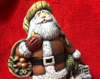 Dry Brushed Ceramic Georgia Santa Claus using Mayco Softee Stains