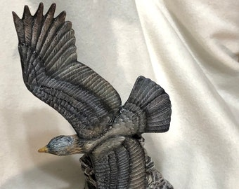 Dry Brushed Soaring Eagle using Mayco Softee Stains