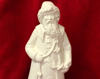 Nautical Santa Claus in ceramic bisque ready to paint