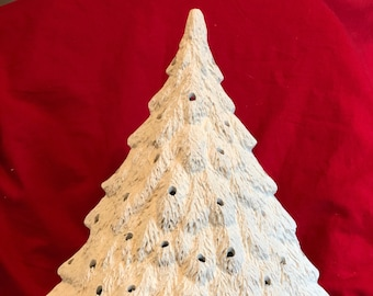 Very Rare Gare Molds Ceramic Evergreen Christmas Tree with lamp bowl in bisque ready to paint by jmdceramicsart