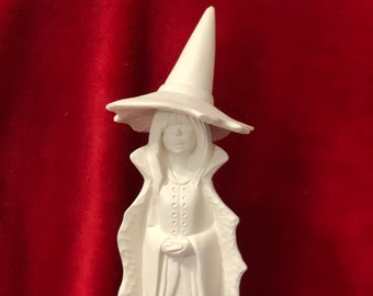 Chara the Witch in ceramic bisque ready to paint