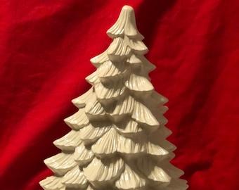 Milk Glass Glazed Medium Doc Holliday Ceramic Tree and Amethyst Base