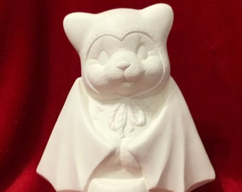 Clay Magic's Girl Bear in ceramic bisque ready to paint