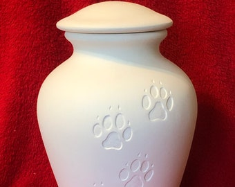 Ceramic Pet Urn in bisque ready to paint