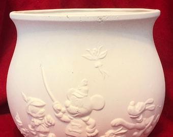 Rare Gare Walt Disney Ceramic Bowl in bisque ready to paint by jmdceramicsart
