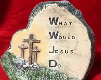 What Would Jesus Do Ceramic Dry Brushed Painting using Mayco Softee Stains