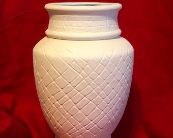 Decorative Vase Ceramic Bisque