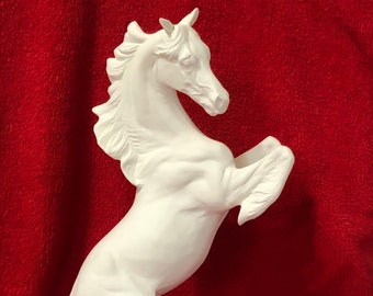 Rearing Stallion Ceramic Bisque ready to paint