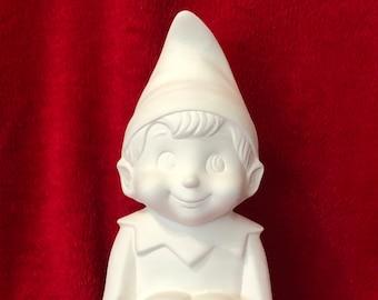 Set of 2 Mayco Molds Vintage Elf dr brushed using Nayco Softee Stains Custom