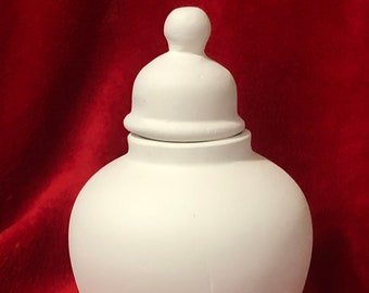 Vintage Ceramic Urn in bisque ready to paint