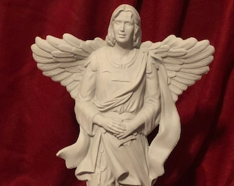 Ceramic Millenium Male Angel in bisque ready to paint