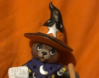 Clay Magic's Female Witch Bear dry brushed using Mayco Softee Stains