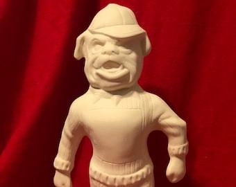 Georgia Bulldog in ceramic bisque ready to paint by jmdceramicsart