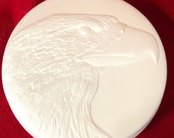 Ceramic Eagle Bowl in bisque ready to paint