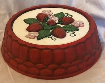 Dry Brushed ceramic Strawberry stove eye cover