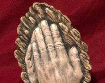 Dry Brushed Ceramic Praying Hands using Mayco Softee Stains