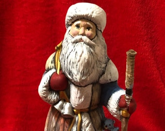 Dry Brushed Ceramic Santa with Septor using Mayco Softee Stains
