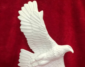 American Eagle in ceramic bisque ready to paint