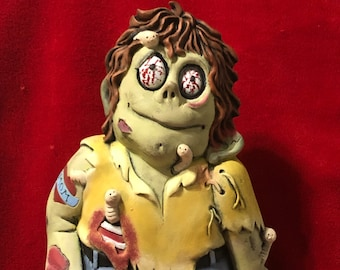 New Ceramic Clay Magic Zombie dry brushed using Mayco Softee Stains