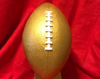 Gold Ceramic Football Trophy by jmdceramicsart