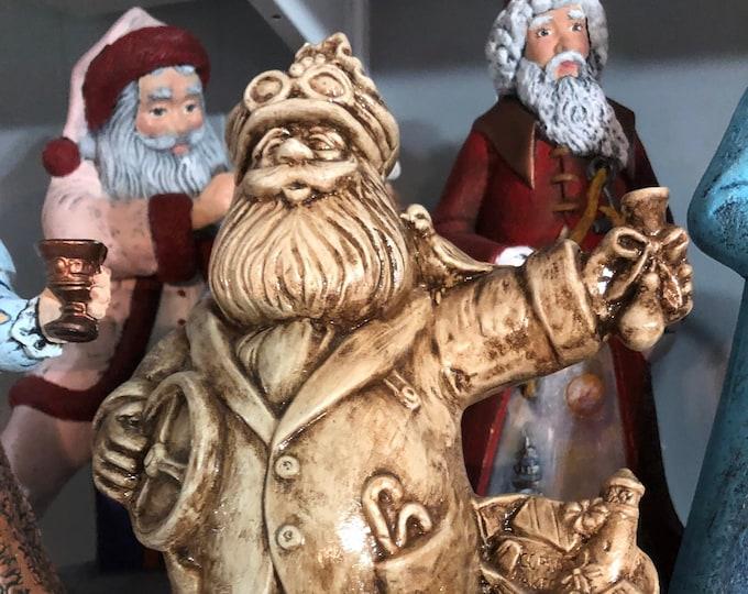 Antiqued Racing Santa