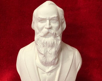 Bust of Johannes Brahms in ceramic bisque ready to paint