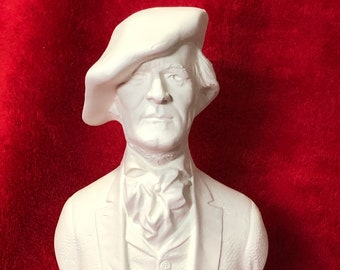Bust of Mr. Richard Wagner in ceramic bisque ready to paint