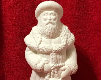 Asian Santa in ceramic bisque ready to paint