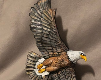 Eagle in Flight Ceramic Art