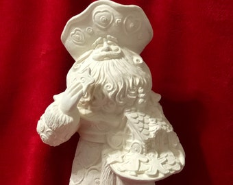 Gingerbread Cookie Santa Claus in ceramic bisque