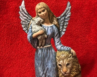 Dry Brushed Ceramic Peace Angel using Mayco Softee Stains