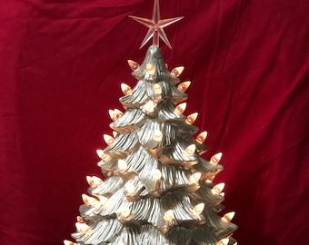Chrome Ceramic Christmas Tree